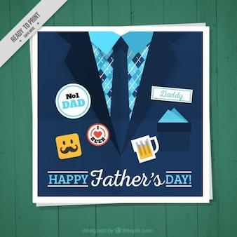 Simpática tarjeta del día del padre