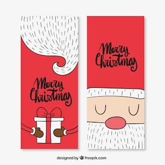 Simpáticas tarjetas de navidad de santa claus