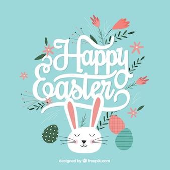 Simpático conejito de feliz Pascua