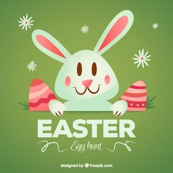 Simpático conejo de Pascua