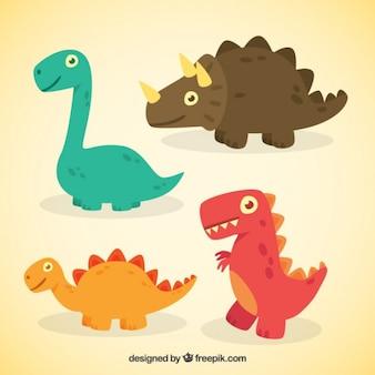 Simpáticos dinosaurios de dibujos