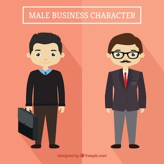 Simpáticos hombres de negocios