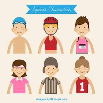 Simpáticos niños deportistas