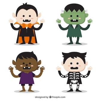 Simpáticos personajes de halloween