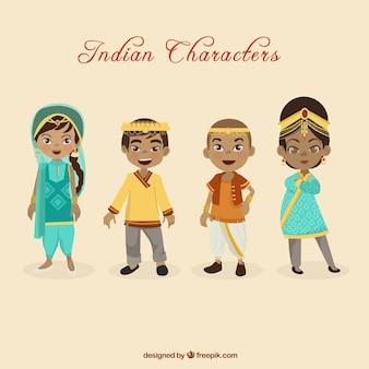 Simpáticos personajes indios