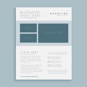Simple brochure with sections
