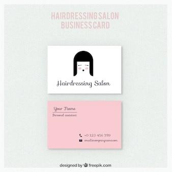 Simpática tarjeta de salón de peluquería