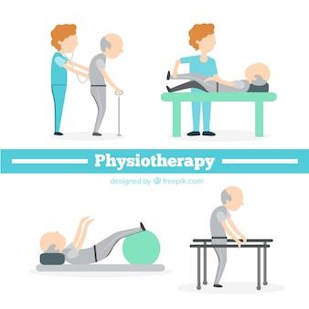Situaciones de fisioterapia planas