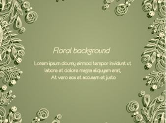 Sobrio fondo verde floral mínima