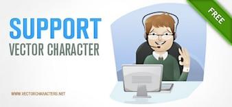 soporte de caracteres vector