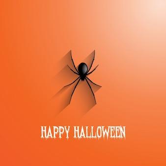 spanish english  una araña sobre un fondo naranja para halloween