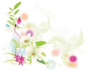 Suave exótico lirio fauna fondo floral