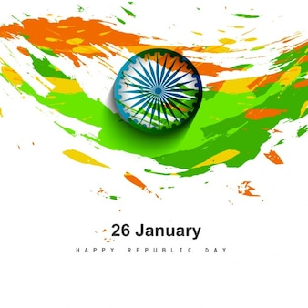 Sucio diseño de la bandera tricolor india