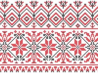 Sueco tejer patrones de fondo conjunto de vectores