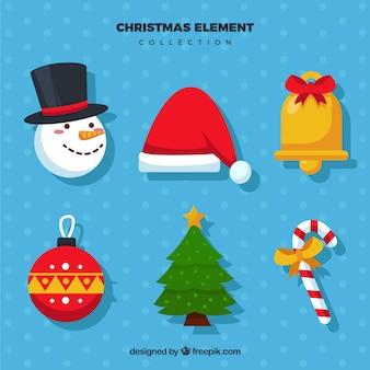 Surtido de elementos decorativos de navidad