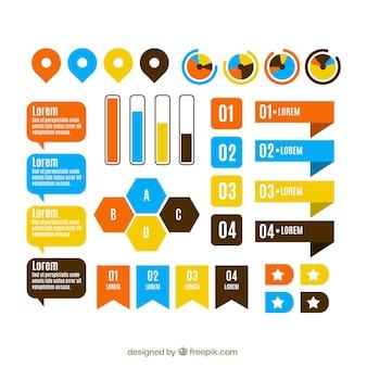 Surtido de elementos infográficos