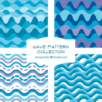 Surtido de patrones de ondas en estilo abstracto