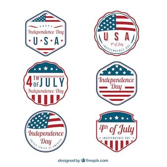 Surtido de pegatinas del día de la independencia fantásticas