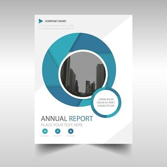 Tapa de libro de reporte anual azul