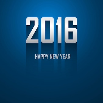 Tarjeta azul de nuevo año 2016