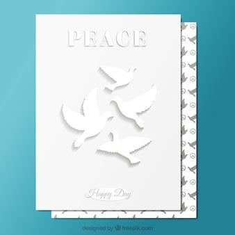 Tarjeta blanca de la paz