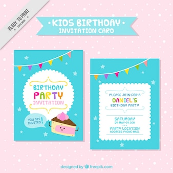 Tarjeta bonita de cumpleaños  de niños
