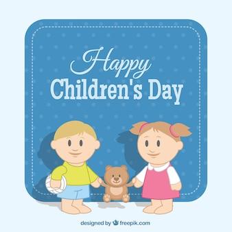 Tarjeta bonita del día de los niños