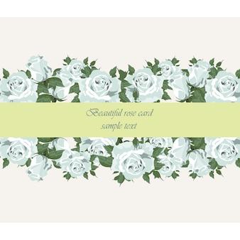 Tarjeta con diseño de rosas bonitas