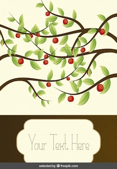 Tarjeta con ramas