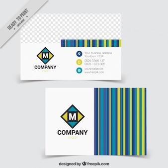 Tarjeta corporativa con rayas