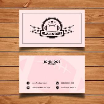 Tarjeta corporativa deportiva rosa