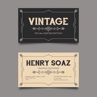 Tarjeta corporativa estilo vintage