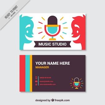 Tarjeta creativa de estudio de música