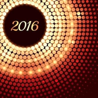 Tarjeta creativa de feliz año nuevo hecho con puntos