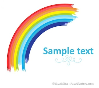 Tarjeta de arco iris de colores