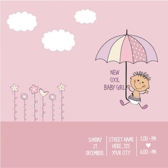 Tarjeta de Baby Shower Chica