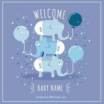 Tarjeta de bienvenido bebé