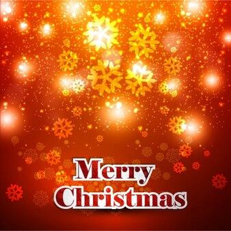 Tarjeta de colores cálidos de Feliz Navidad