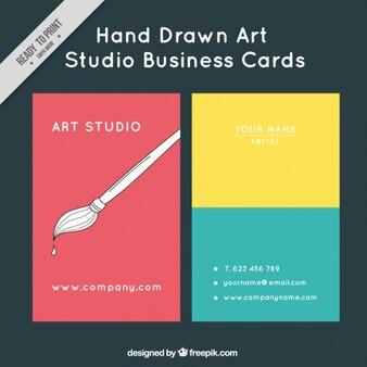 Tarjeta de colores de estudio de arte