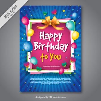 Tarjeta de cumpleaños colorida