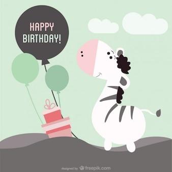 Tarjeta de cumpleaños, imagen vectorial