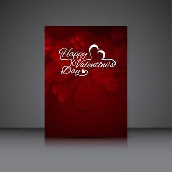 Tarjeta de Día de San Valentín en color rojo