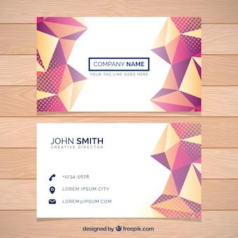 Tarjeta de empresa con diseño poligonal