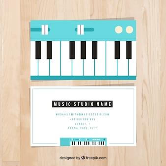 Tarjeta de estudio de música
