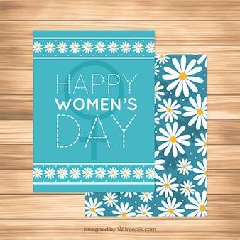 Tarjeta de felicitación con margaritas para el día de la mujer
