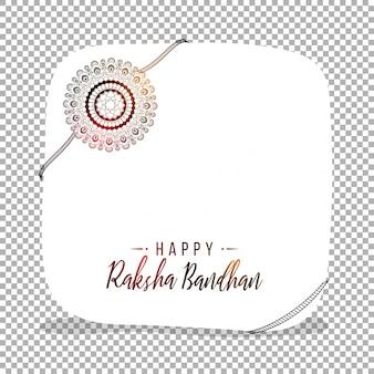 Tarjeta de felicitación con rakhi floral para Raksha Bandhan.
