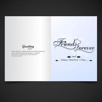 Tarjeta de felicitación de amigos para siempre