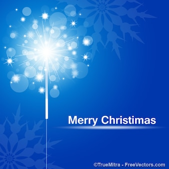 Tarjeta de felicitación de Navidad chispas