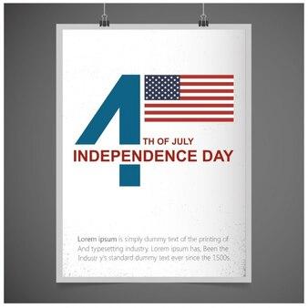 Tarjeta de felicitación del 4 de julio independencia del 4 de julio