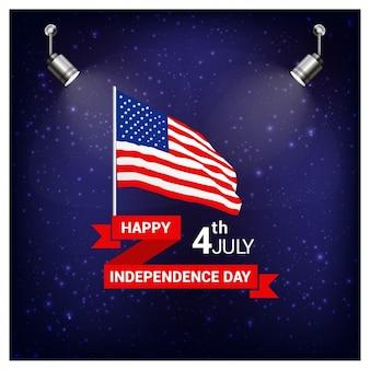 Tarjeta de felicitación del día de la independencia